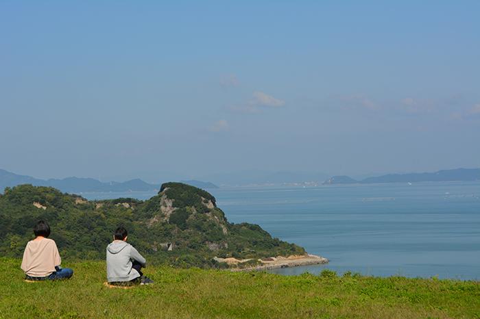 豊島美術館から望む瀬戸内海