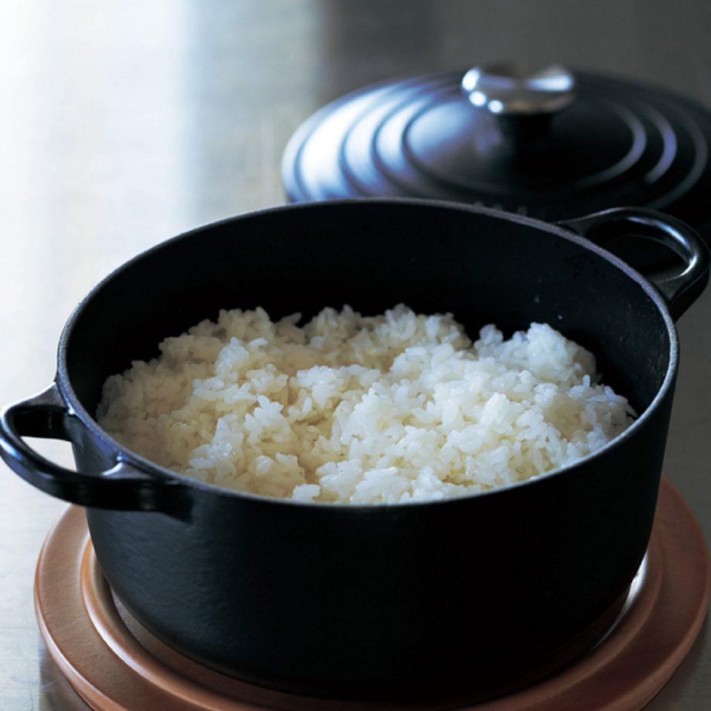 ルクルーゼの両手鍋で炊いたご飯