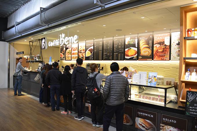 cafe bene 成田空港第3ターミナル