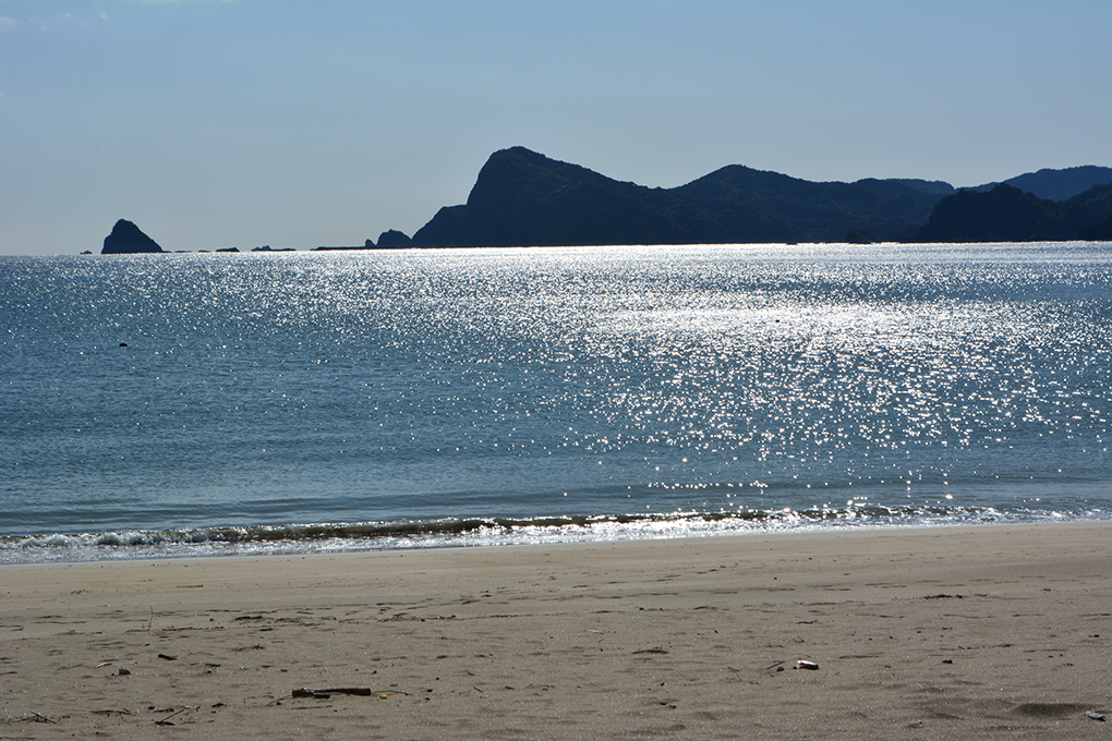 療養中の父と訪れたきれいな海