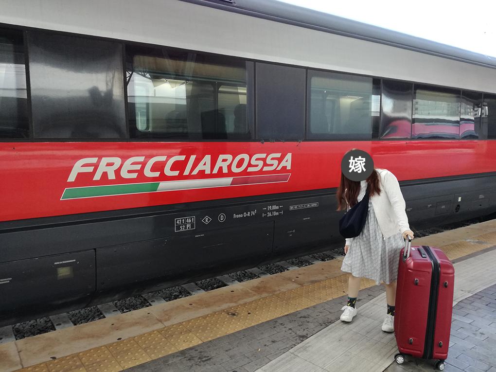 フレッチャロッサに乗る妻