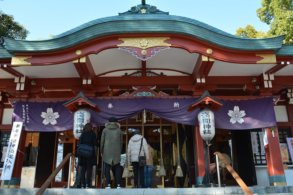 多摩川浅間神社の拝殿